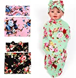 Hcside Newborn Infant Floral Swaddle Wrap Baby