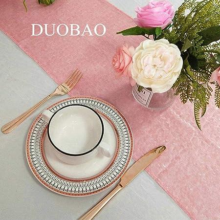 Camino de mesa de lentejuelas, color rosa, 30,5 x 274,3 cm ...