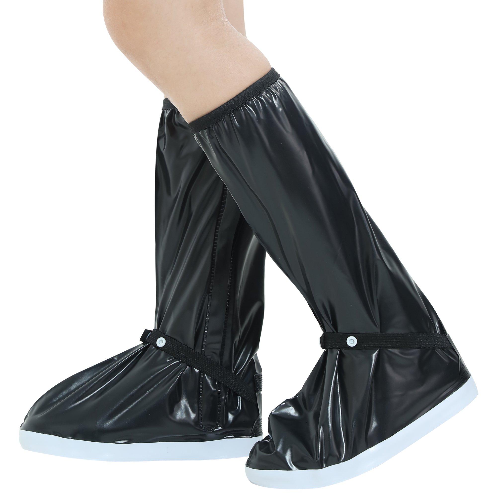 Waterproof Rain Boots Men Rainboots-Waterproof shoes for Men Women Boots covers Waterproof hiking shoe covers Rain overshoes