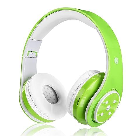 Auricular Bluetooth sin hilos para los cabritos los adultos sonido estéreo venda de los auriculares sobre