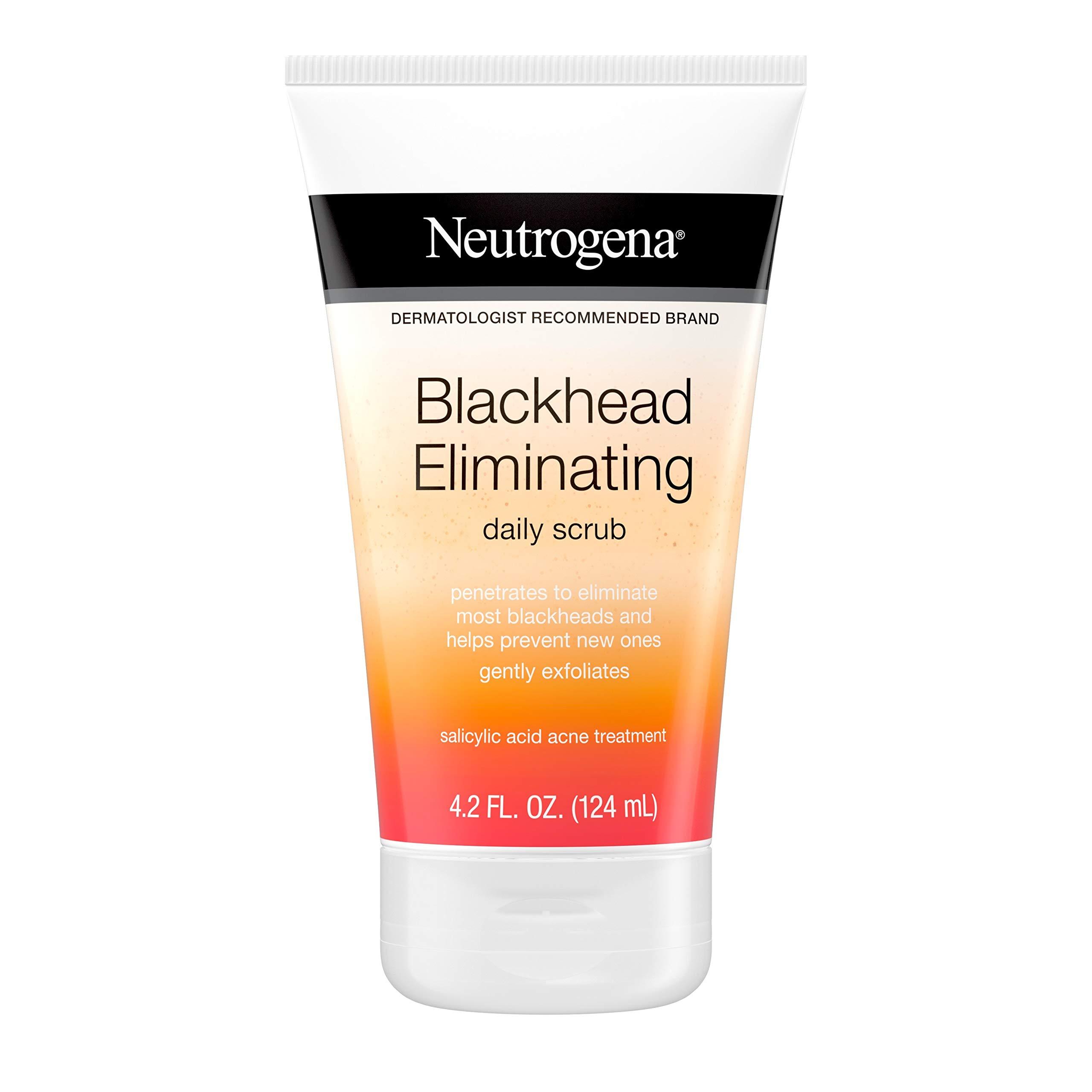 Neutrogena Blackhead Eliminating Daily Facial Scrub With Salicylic Acid Acne Medicine, Exfoliating Face Wash for Blackheads, 4.2 oz (Pack of 6)