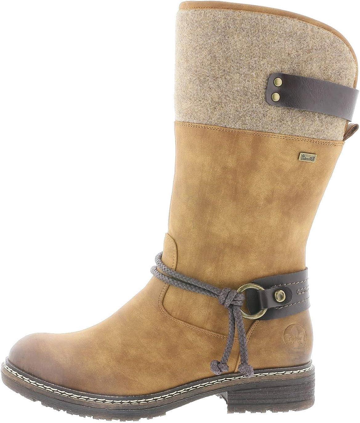 Rieker Femme Bottes, Boots 94774, Dame Bottes d'hiver,riekerTEX