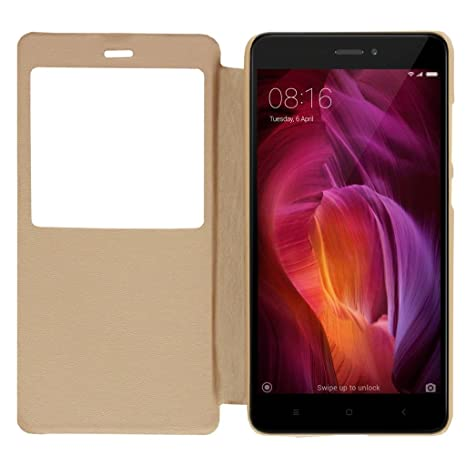 the latest bc8bb 59d74 RayKay Flip Cover Case for Xiaomi Redmi Note 4 Gold: Amazon.in ...