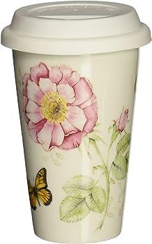 Lenox Butterfly Meadow Thermal 10 oz Travel Mug