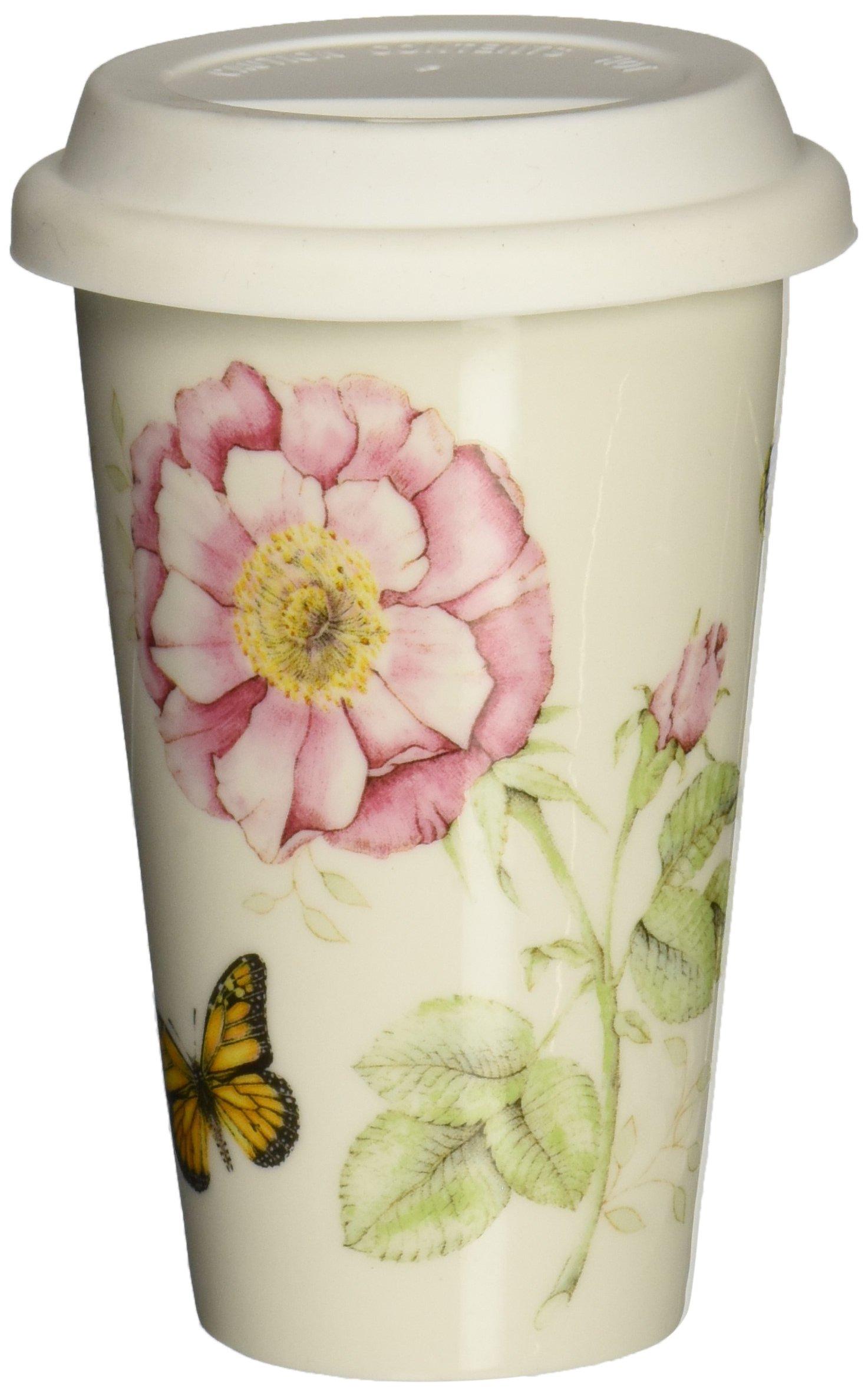 Lenox Butterfly Meadow Thermal Travel Mug -10 Oz 10