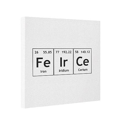 Amazon gallery wrapped canvas feirce chemistry periodic table gallery wrapped canvas feirce chemistry periodic table words elements online canvas urtaz Gallery