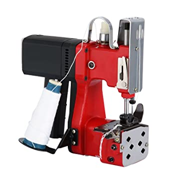Happybuy Bag Closing Machine 110V Portable Sewing Machine for Bag Closer Stitcher Sealing Machine (Red