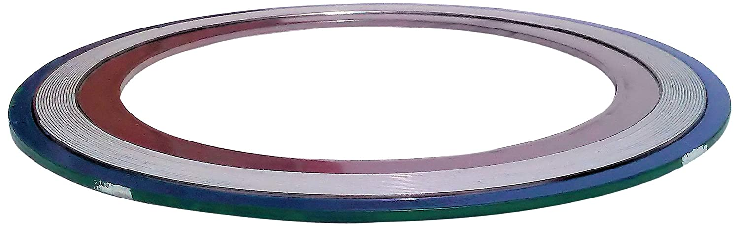 Teadit 9000IR5316PTFE150 Green Band with White Stripe 316SS//PTFE Spiral Wound Gasket with 316SS Inner Ring -150 to 500 degrees F Temperature Range 7.75 OD Sur-Seal for 5 Pipe Size 5.19 ID 7.75 OD for 5 Pipe Size Inc 5.19 ID