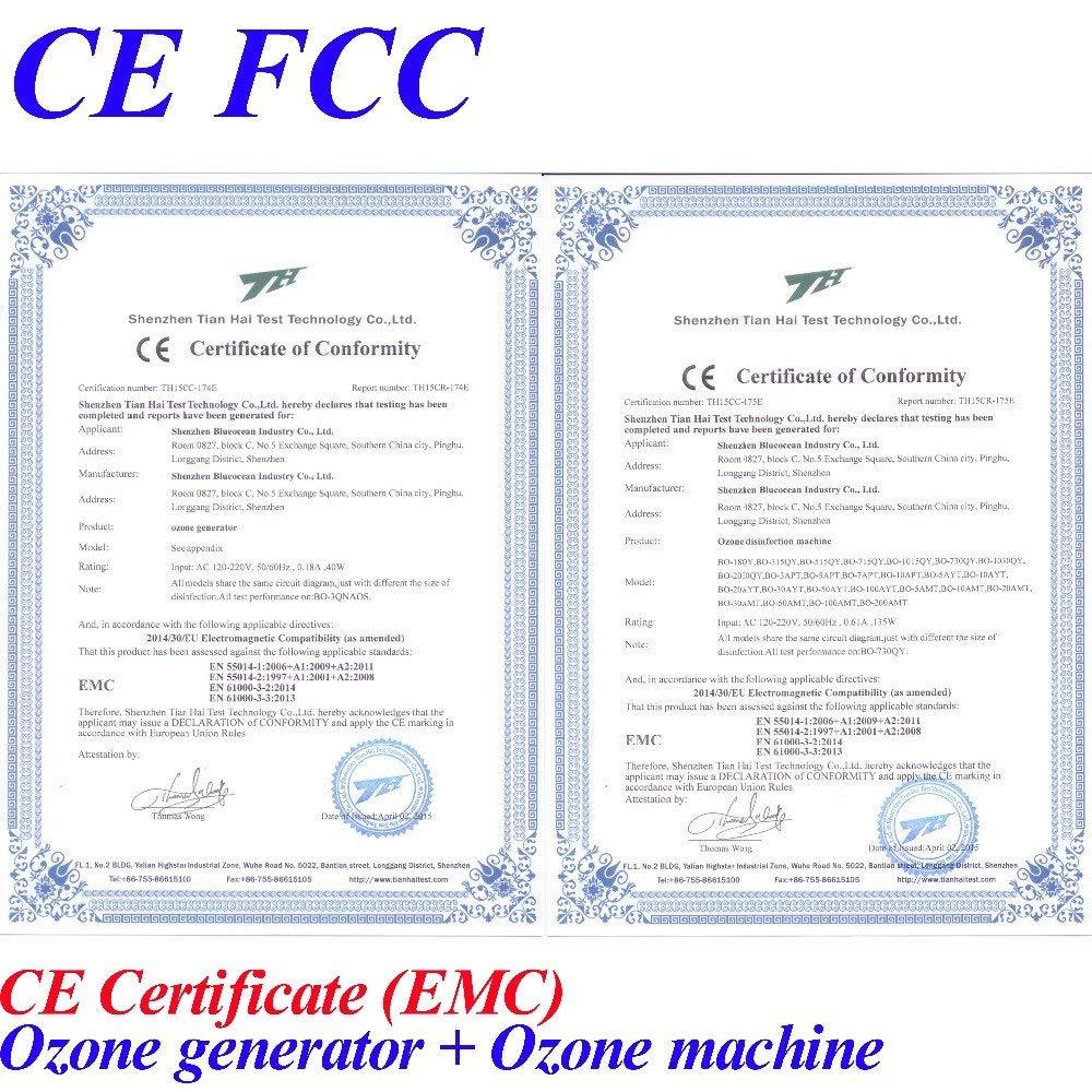 Amazon com: CE EMC LVD FCC 18g/h Quartz Tube Type Ozone