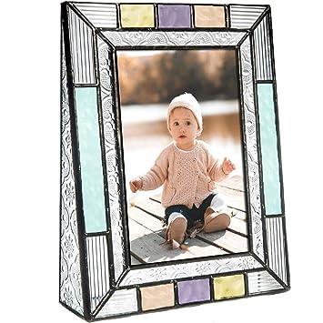 Amazon.com: Caja de cristal colorido y marcos de fotos para ...