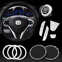 JINGSEN Bling Steering Wheel Accessories for Honda Accessories Bling Civic Accord Fit CRV HRV Pilot Odyssey Clarity…