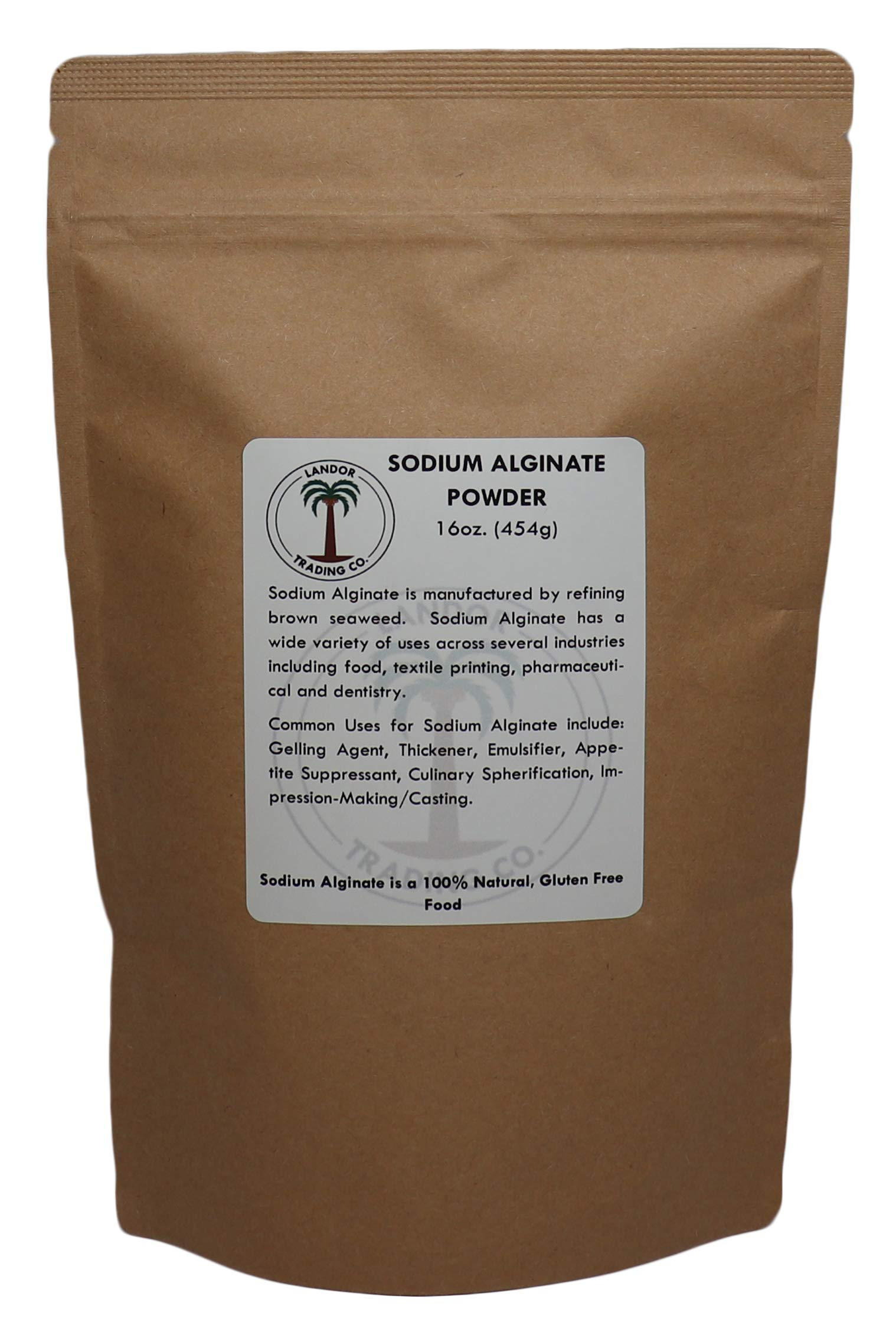 Sodium Alginate - Food Grade - 16 Ounces