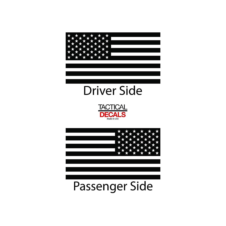 Rear Door Windows USA Flag Decals For 2014-2020 Toyota Tundra Crew Cab Custom Design QR1-TC3.A