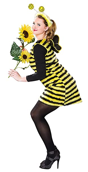 Karneval Damen Kostum Biene Kleid Als Bienenkostum Grosse 36 38