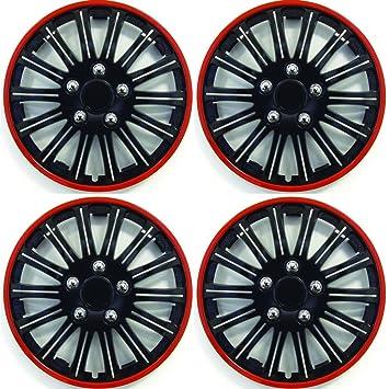 Ford Ka Car Wheel Trims Hub Caps Plastic Covers Lighting  Black Red Amazon Co Uk Car Motorbike