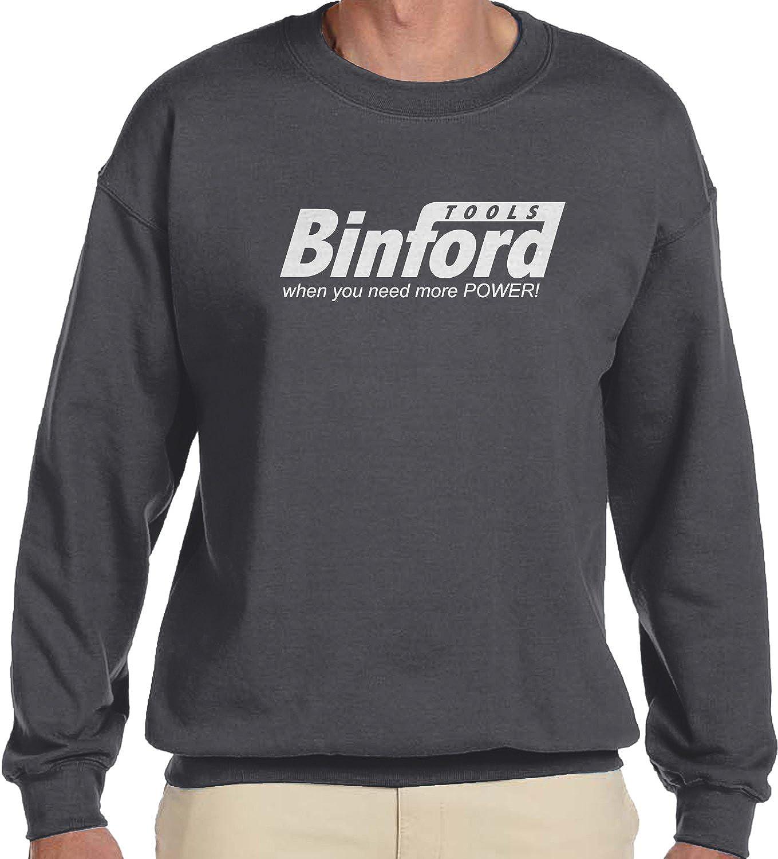 When You Need More Power Crewneck Sweatshirt Amdesco Mens Binford Tools