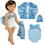 3 PC. Gymnastics Leotard, Jacket, and Bag, Doll Gymnastics Outfit by Sophia's, Doll Clothes For 18 Inch Dolls Like American Girl