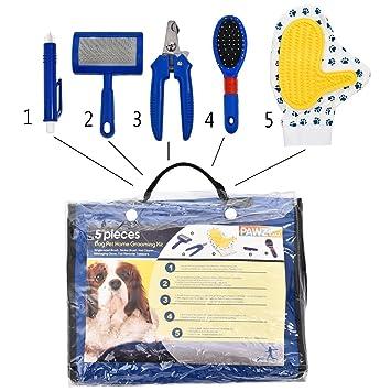 SCSY-Cama para mascotas Kit Profesional de Aseo doméstico para Mascotas de 5 Piezas Set