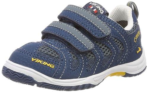 Viking 3-46500 - Zapatillas de Deporte Exterior de Sintético Unisex Infantil, Color Azul, Talla 26 EU