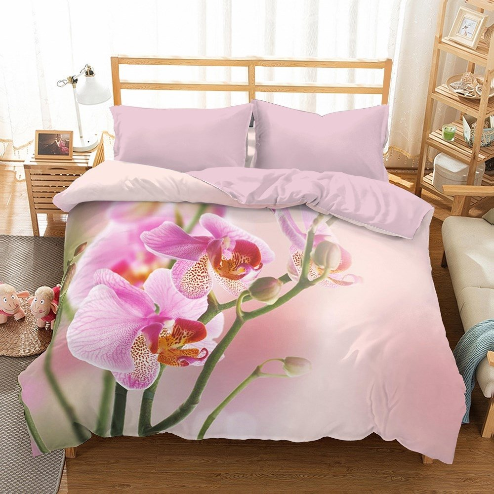 Cool Microsatin Bettwäsche Referenz Von Bettwäsche Mit 3d 200x220 Rosa Orchideen Bed