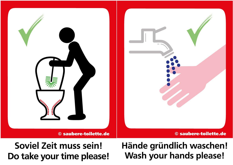 Toilette Richtig Reinigen saubere toilette aufkleber bundle sitzen pinkeln klobürste