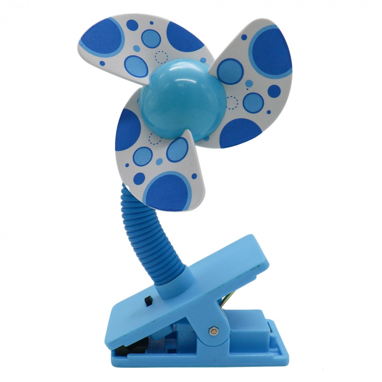 HUELE Blue Cute Baby Clip-on Crib Cooling Mini Stroller Fan for Baby