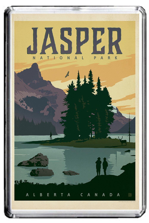 B154 Jasper Park Fridge Magnet Canada Vintage Travel Photo Refrigerator Magnet GIFTSCITY