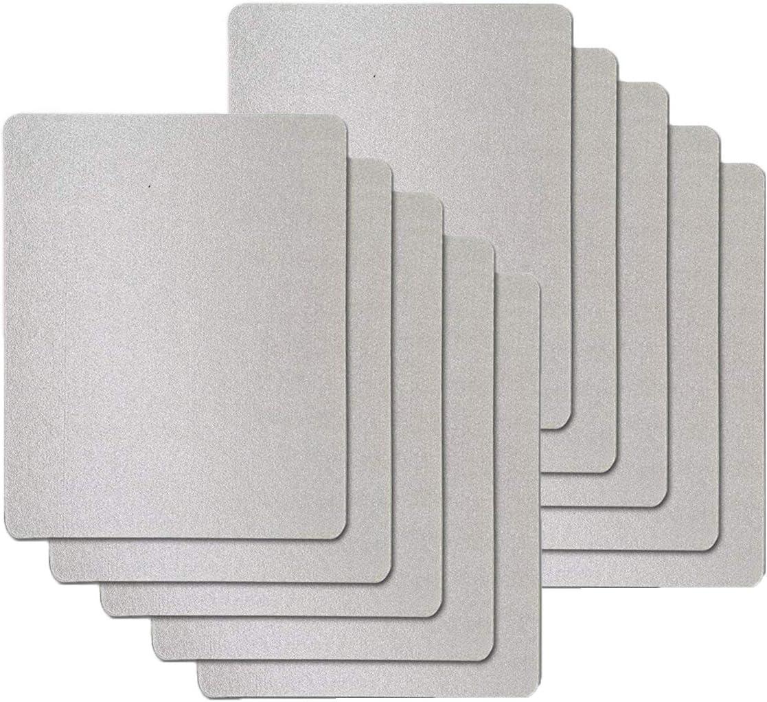Cubierta de la guía de onda, hoja de mica universal para todos los hornos de microondas, corte a medida, 150 * 120 mm, 10pcs