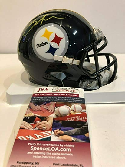 d0fbb9100c4 RYAN SWITZER AUTOGRAPHED SIGNED PITTSBURGH STEELERS MINI HELMET JSA COA at  Amazon's Sports Collectibles Store