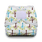 Thirsties Diaper Cover with Hook and Loop, Blackbird, Small