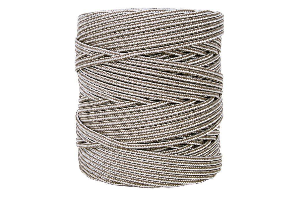5 mm x 200 m Cofan 08101013 Bobina de cord/ón Trenzado con Polipropileno Blanco y Verde