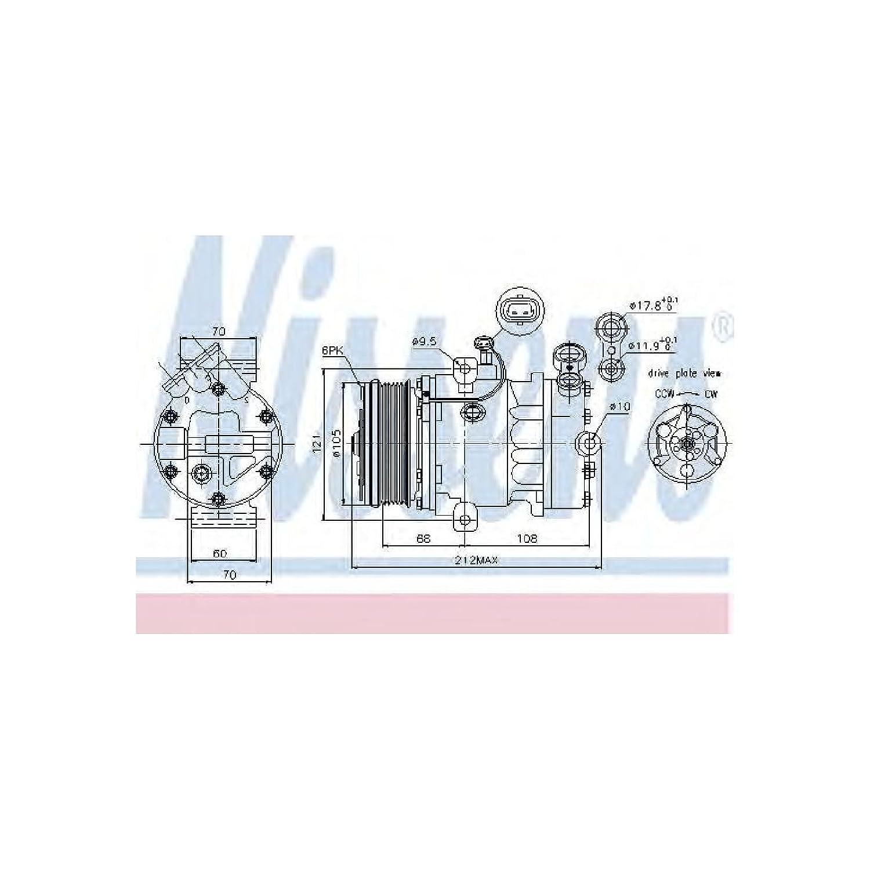 Nissens 89042 Sistemas de Aire Acondicionado: Amazon.es ...