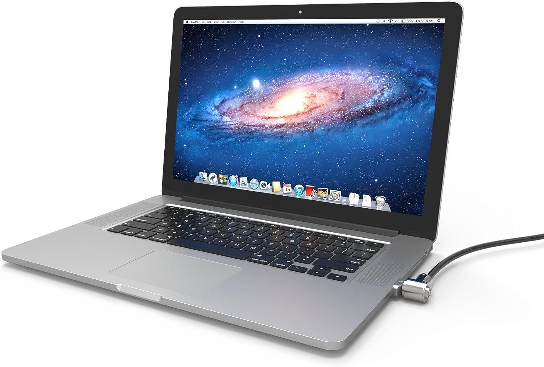 Silver Maclocks MBPRLDGZ01KL Ledge Security Laptop Lock Slot Adapter with Keyed Lock for MacBook Pro