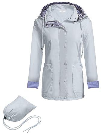 Amazon.com  carsget Waterproof Raincoat Womens Rains Raincoat rain ... 75aaa78a47
