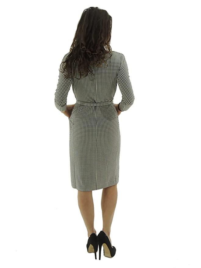 Max Mara - Vestido - para Mujer Blanco y Negro S: Amazon.es: Ropa y accesorios