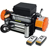 ORCISH IP67 Waterproof 12V Steel Cable Electric Truck Winch 13000 lb.Load Capacity