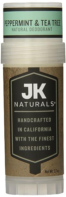 JK Naturals Natural Deodorant, Peppermint and Tea Tree, 2.7 Ounce