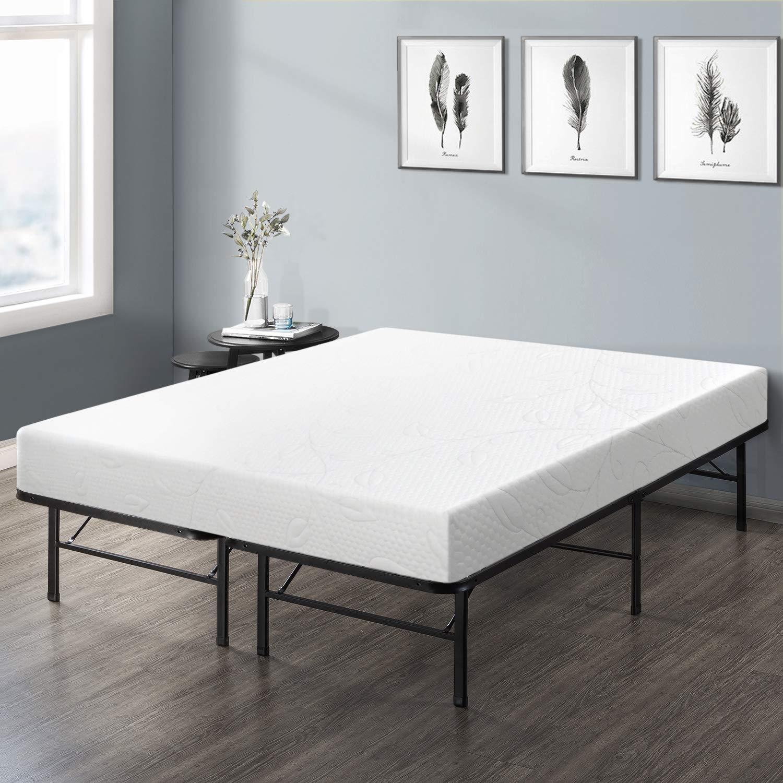 Best Price Mattress 8'' Air Flow Memory Foam Mattress & 14'' Premium Metal Bed Frame Set, Full