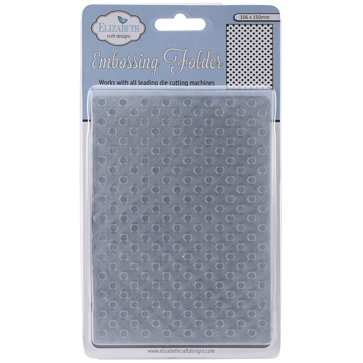 Lots of Dots 4 by 6-Inch Elizabeth Craft Designs Embossing Folder