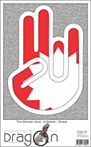The Shocker Hand Decal Sticker Laptop skin 297x205 mm white Outline with Flag Nepal-Nepal