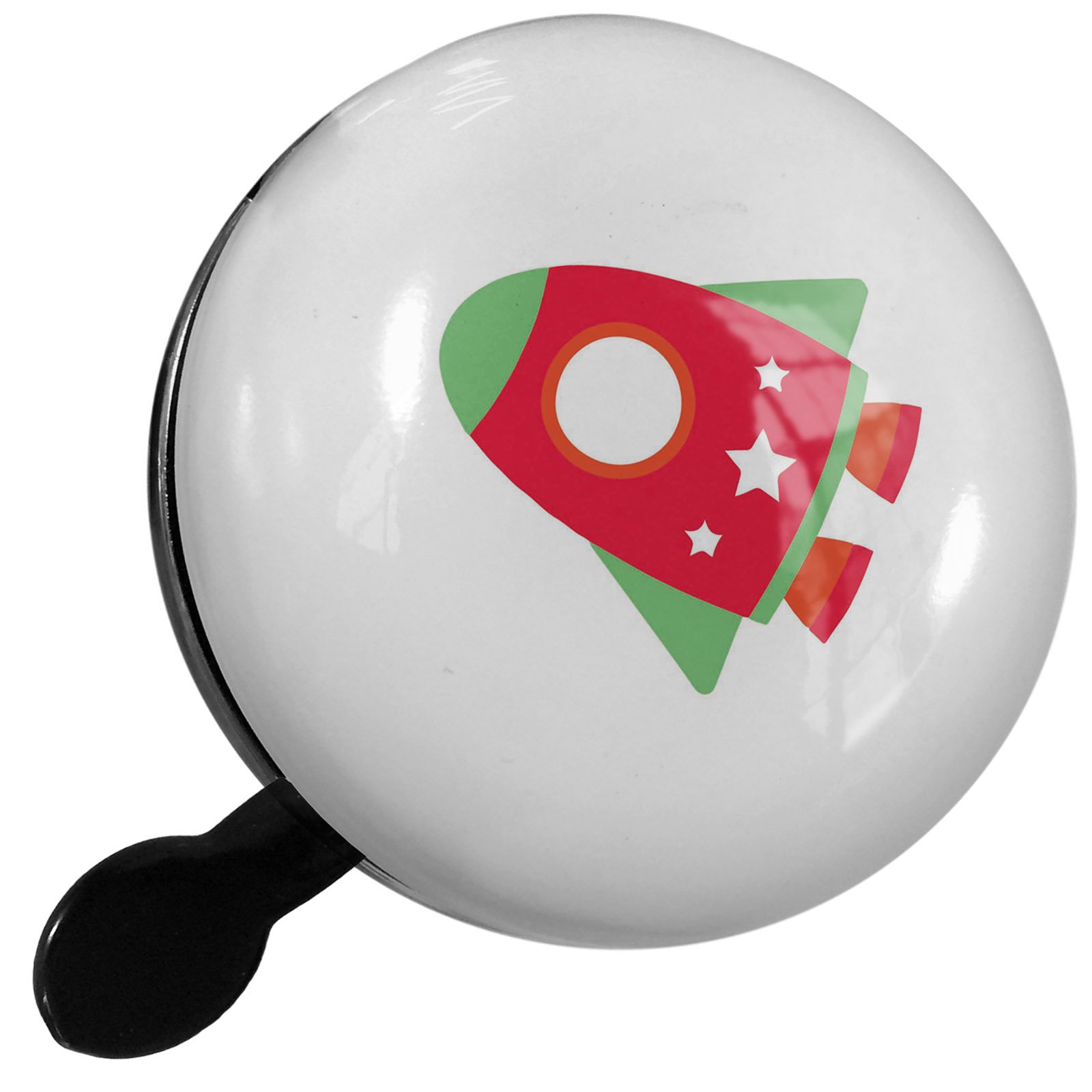 Small Bike Bell Kids Design Red Space Rocket - NEONBLOND