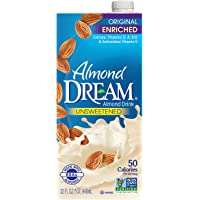 ALMOND DREAM Enriched Original Unsweetened Almond Drink, 32 fl. oz. (Pack of 12)