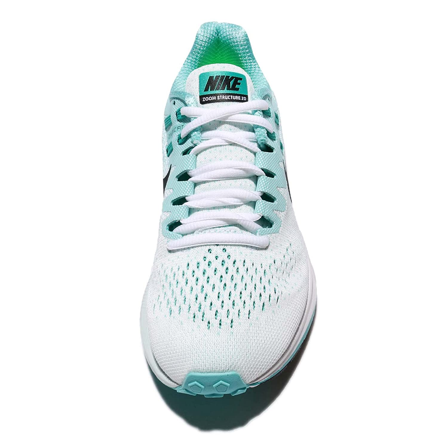 new concept 8fc27 f712d Amazon.com  Nike Women s Wmns Air Zoom Structure 20, WHITE BLACK-AURORA  GREEN, 9 US  Sports   Outdoors