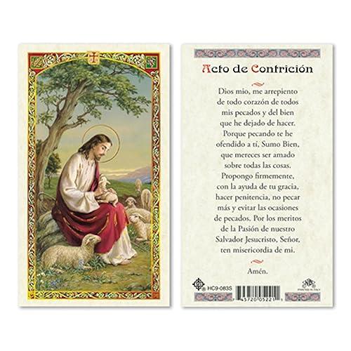 Amazon.com: Español Jesús w/oveja – acto de contrition ...