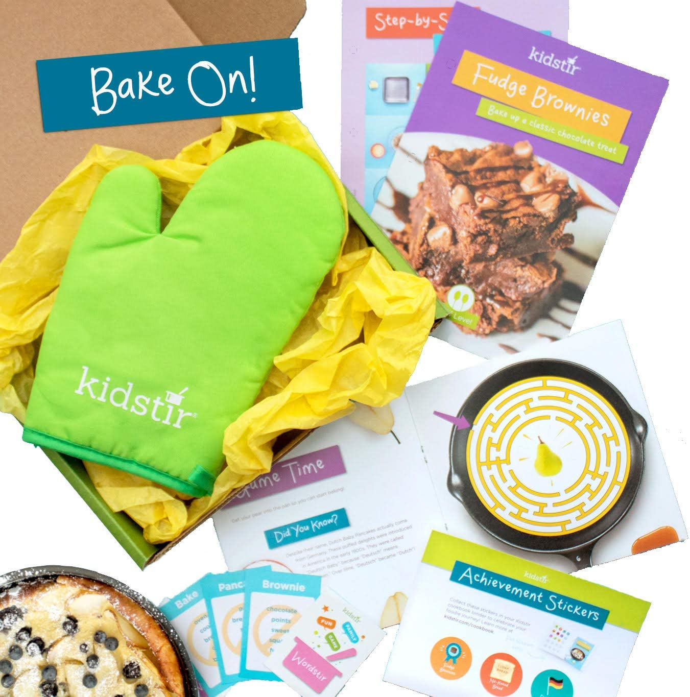 Kidstir - Monthly Kids Cooking Kit Subscription Box - Fun Monthly Recipes, Cool Tools, Creative Ideas for your Child to Learn Cooking and Baking