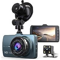 Yundoo Front and Rear Car Dash Camera with 32GB SD Card