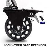 CoVibrant Lockable Stool with Back Ergonomic