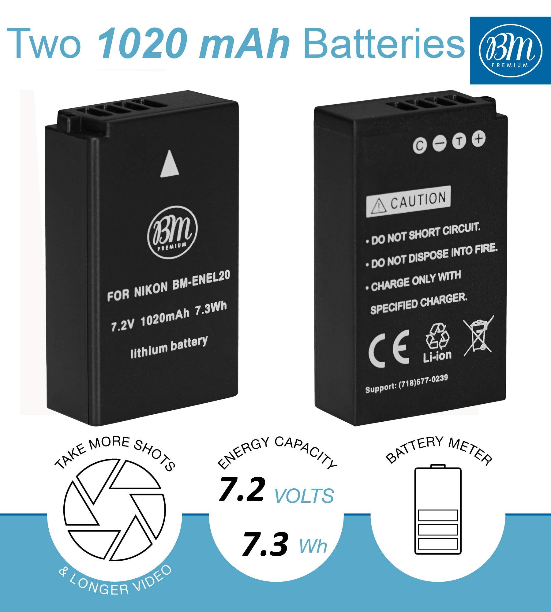Quality Camera Battery charger for Nikon EN-EL20 Coolpix A Nikon J1 J2 J3 S1 V3