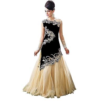 c88918404bc Amazon.com  RUHANI Women s Anarkali Salwar Kameez Designer Indian Dress  Bollywood Ethnic Party One Size Blue  Clothing