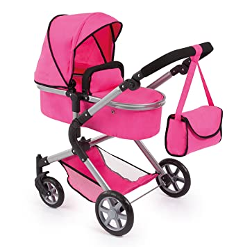 Bayer Design 18129AA Dolls Pram City Neo with Changing Bag and Underneath Shopping Basket Convertable to